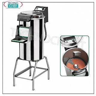 FIMAR - Technochef, Professional potato peeler on a stand, load capacity 10 kg, Mod. PPF / 10 Peeler on trestle, maximum cycle load Kg.10, production capacity Kg 120, V 400/3, Kw 0.75, dimensions mm 380x770x1160h