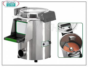 FIMAR - Technochef, Professional potato peeler, load capacity Kg 5, Mod.PPN / 5 Peeler, maximum cycle load Kg.5, production capacity Kg 60, V 400/3, Kw 0.37, dimensions mm 520x630x590h