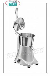 Electric citrus juicer with lever, professional Electric citrus juicer with lever control, structure in satin aluminum alloy with removable bowl, filter, splash guard and pine cone, speed 1,450 rpm, V. 230/1, Kw 0,23, dim. mm. 220x290x390h