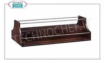 Wooden service trolleys WENGE 'color wood spiral display and stainless steel railing, dim.mm.680x460x370h