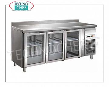 Refrigerated refrigerator / freezer tables Gastronorm Reversed on the floor for Mod. FO-GN3100TNG