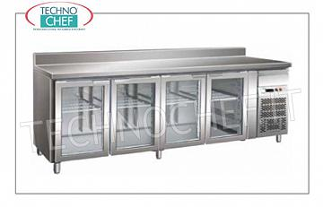 Refrigerated refrigerator / freezer tables Gastronorm Reverses on the floor for Mod. FO-GN4100TNG