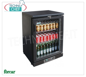 FRIGO display case for DRINKS, 1 Door, Ventilated, Temp. + 2 ° / + 8 ° C, lt. 140, Mod.G-BC1PB Professional Beverage-Drink Refrigerator, 1 glass door, Ventilated, temperature + 2 ° / + 8 ° C, capacity lt. 140, V.230 / 1, Kw.0.106, Weight 54 Kg, dim.mm.602x535x920h