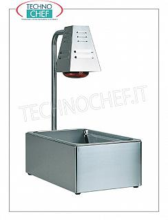 Scuttle / Condiments Table tops with GN 1/1 tub, complete with 1 infrared lamp from W.250, V.230 / 1, Kw.0,25, dim.mm.600x330x680h