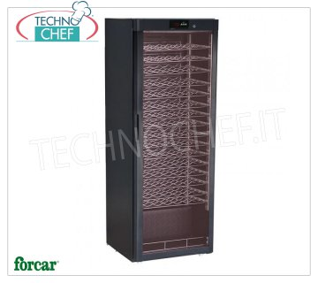Forcar - STATIC REFRIGERATED WINE CELLAR for 96 bottles, TEMP. + 5 ° / + 18 ° C, Mod.BJ408 Refrigerated wine cellar, 1 glass door, capacity 96 bottles, temperature + 5 ° / + 18 ° C, static refrigeration, LED lighting, V.230 / 1, Kw.0.112, Weight 85 Kg, dim.mm.600x603x1860h