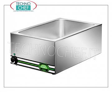 Chafing dish / Warmers Electric electric bain-marie, capacity 1 basin GN 1/1 (mm 530x325x150h), adjustable temperature from + 30 ° to + 90 ° C, V.230 / 1, Kw.1,2, dim.mm.570x370x220h