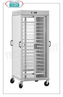 Hot plate trolley, with 10 shelves GN 2/1 HOT TAPER TROLLEY with 10 PAINTED GRILLED PLANS Gastro-Norm 2/1 (mm.650x530), ADJUSTABLE in height with a STEP of 60 mm, static heating with adjustable temperature from + 30 ° to + 60 ° C, V.230 / 1 , Kw 0.8 + 0.8, dim.mm.750x780x1770h