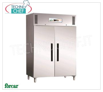 2 DOOR Fridge / Freezer Cabinets, capacity 1173 lb, FORCAR Brand 2 DOOR REFRIGERATOR CABINET, FORCAR brand, capacity 1173, operating temperature -2 ° / + 8 ° C, ventilated refrigeration, Gastro-Norm 2/1, V.230 / 1, Kw.0,7, Weight 180 Kg, dim.mm.1340x845x2000h