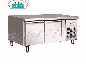 Forcar - Professional 2-door Refrigerator / Refrigerated Table, Mod.UGN2100TN 2 DOORS refrigerated table, FORCAR brand, capacity 170 liters, operating temperature -2 ° / + 8 ° C, ventilated refrigeration, Gastro-Norm 1/1, V.230 / 1, Kw.0.35, Weight 82 Kg , dim.mm.1360x700x650h