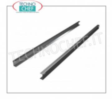 Pair of stainless steel guides Pair of stainless steel guides for plasticized grid
