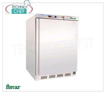 FORCAR - Professional Freezer Cabinet 1 Door, lt.120, Static, Class B, Mod. EF200 1 Door Refrigerator / Freezer Cabinet, Brand FORCAR, with external sheet metal structure, ABS interior, 120 lt capacity, low temperature -18 ° / -22 ° C, static refrigeration with internal fan, V. 230/1, Kw 0 , 15, Weight 45 Kg, dim.mm 600x585x855h