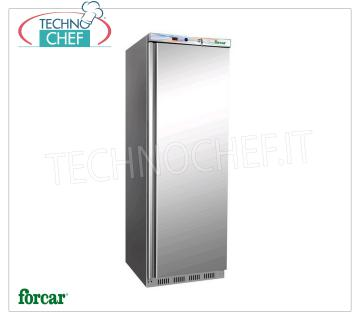 FORCAR - Technochef, Professional Freezer Wardrobe 1 door, lt.340, negative temperature, Mod.EF400SS 1 door Refrigerator / Freezer cabinet, 430 stainless steel external structure, ABS interior, lt.340 capacity, low temperature -18 ° / -22 ° C, static refrigeration with internal fan, V. 230/1, Kw 0.21 , Weight 74 Kg, dim.mm.600x585x1855