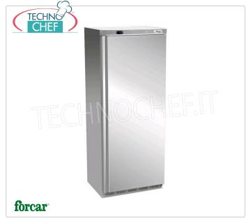 FORCAR - Technochef, Professional Freezer Wardrobe 1 Door, lt.641, Mod.EF700SS 1 door Refrigerator / Freezer cabinet, with external structure in 430 stainless steel, ABS interior, capacity lt. 641, low temperature -18 ° / -22 ° C, ventilated refrigeration, V.230 / 1, Kw.0.54, Weight 113 Kg, dim.mm.777x730x1970h