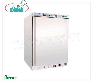 Forcar - 1 Door Fridge Cabinet, lt. 130, Static, Temp. + 2 ° / + 8 ° C, Class A, model G-ER200 1 Door Refrigerator Cabinet, Professional, external structure in white sheet, internal in ABS, lt. 130, temp. + 2 ° / + 8 ° C, ECOLOGICAL in CLASS A, Gas R600a, Static with internal fan, V.230 / 1 , Kw.0,1, Weight 45 Kg, dim.mm.600x585x855h
