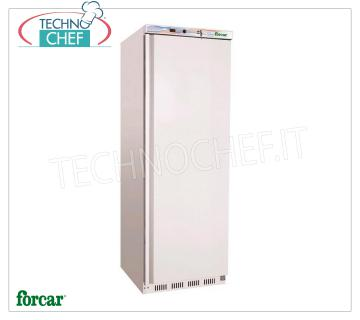 FORCAR - Fridge Cabinet 1 Door, external sheet metal, lt 350, Class C, Mod.ER400 Fridge 1 door wardrobe, FORCAR brand, with external white sheet structure, ABS interior, 350 liter capacity, temperature + 2 ° / + 8 ° C, static refrigeration with internal fan, V. 230/1, Kw 0.185, Weight 69 Kg, dim. mm. 600x585x1855h