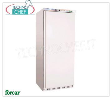 FORCAR - Fridge Cabinet 1 Door, outside in sheet metal, lt 700, Class C, Mod.ER600 Frigor 1 Door wardrobe, FORCAR brand, with external white sheet structure, ABS interior, capacity 570 liters, operating temperature + 2 ° / + 8 ° C, static refrigeration with internal fan, V.230 / 1, Kw. 0.185, Weight 90 Kg, dim.mm.777x695x1895h