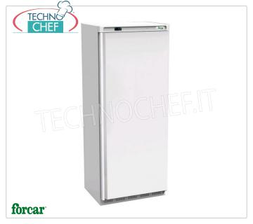 FORCAR - Fridge Cabinet 1 Door, outside in sheet metal, lt.641, Ventilated, Class C, Mod.ER700 Fridge 1 door wardrobe, FORCAR brand, with external white sheet structure, ABS interior, 641 liter capacity, operating temperature -2 ° / + 8 ° C, ventilated refrigeration, V.230 / 1, Kw.0.38 , Weight 105 Kg, dim.mm.777x730x1970h