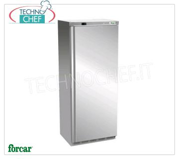 FORCAR - Fridge Cabinet 1 Door, outside Inox 430, lt.641, Ventilated, Class C, Mod.ER700SS Professional Refrigerator 1 Door Wardrobe, FORCAR, with external structure in 430 stainless steel, ABS interior, capacity 641 liters, operating temperature -2 ° / + 8 ° C, ventilated refrigeration, V.230 / 1, Kw.0, 38, Weight 105 Kg, dim.mm.777x730x1970h