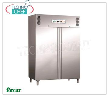 Fridge / Freezer Cabinet 2 Doors, capacity 1325 lt, FORCAR Brand 2 Doors Refrigerator Cupboard, FORCAR Brand, capacity 1325 lt, operating temperature -2 ° + 8 ° C, ventilated refrigeration, Gastro-norm 2/1, V.230 / 1, Kw.0,70, dim.mm .1480x830x2010