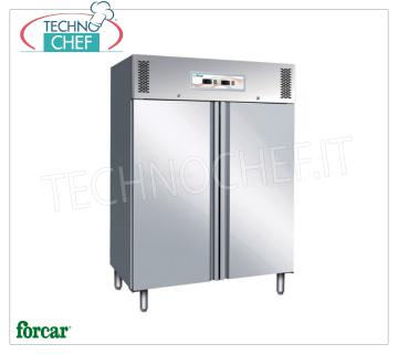 Forcar - Professional Combined Fridge-Freezer Cabinet, 2 Doors, dual temperature, model G-GNV1200DT 2 Door Combined Fridge / Freezer Cabinet, stainless steel structure, dual temperatures -2 ° / + 8 ° C, -18 ° / -22 ° C, lt. 507 + 507, ventilated refrigeration, Gas R290, Gastronorm 2/1, Kw.0,255 + 0.75, Weight 195 Kg, dim.mm.1340x830x2010h