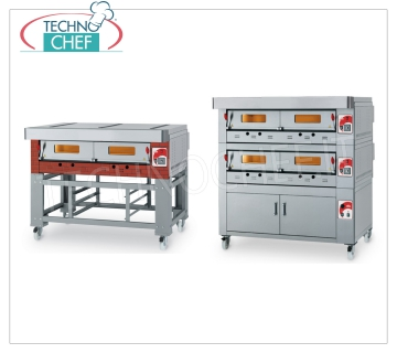 modular gas pizza ovens with refractory cooking top and plate inner chamber