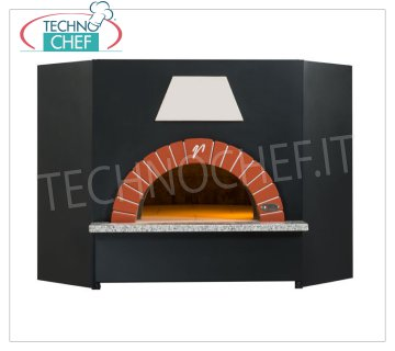 WOODEN OVENS for PIZZA, OT Series Wood oven for pizza, OT series, internal diameter 100 cm, capacity 4 pizzas diam. 30 cm, dim. mm 1400x1500x1200h.
