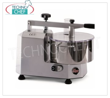 TECHNOCHEF - Professional Cutter with tub of 3, Mod.C1 Professional cutter with 3 liter stainless steel tank, 1 speed, 730 rpm, V 230/1, Kw.0,68, weight 12 kg, dim.mm.520x320x620h.