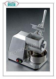 TECHNOCHEF - Type 8 Grater, Faired, semi-professional, yield 20 Kg / hour Type 8 grater, anodized aluminum cased, yield 20 Kg / hour, V 230/1, Kw 0.34, dim. 340x370x440h mm.