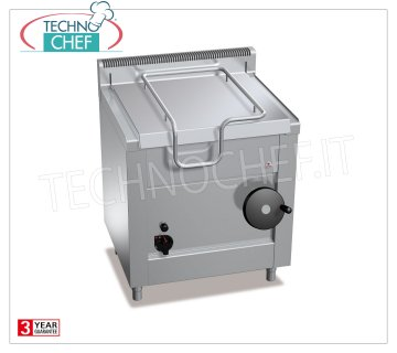 Technochef - Gas Bratt pans, Manual overturning, Capacity lt.60, Mod.G7BR8 / I Gas tilting braising pan, BERTOS, MACROS 700 line, HIGH-TECH MAXI series, with 60 liter stainless steel tank, manual tilting, thermal power Kw.14.5, weight 99 kg, dim.mm.800x700x900h