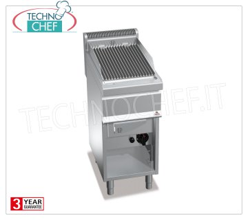TECHNOCHEF - GAS VAPOR-WATER GRILL, 1 module on DAY COMPARTMENT, Mod.G7WG40M GRILL VAPOR-WATER to GAS, BERTOS, Line MACROS 700, Series WATER GRILL, 1 module on DAY COMPARTMENT with COOKING AREA of 350x515 mm, thermal power Kw 9.00, Weight 45 Kg, dim.mm.400x700x900h