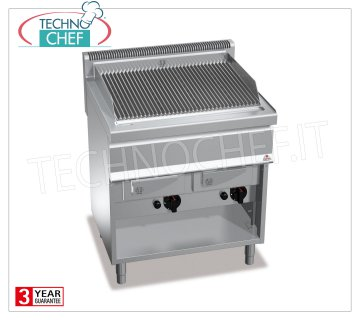 TECHNOCHEF - GAS VAPOR GRILL, DOUBLE module on OPEN CABINET, Mod.G7WG80M GAS VAPOR-WATER GRILL, BERTOS, MACROS 700 Line, WATER GRILL Series, DOUBLE module on OPEN CABINET with 700x515 mm COOKING ZONE, heat output Kw.18.00, Weight 85 Kg, dim.mm.800x700x900h