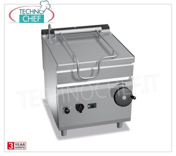Technochef - Gas Bratt pans, Manual overturning, Capacity 80 lt, Mod.G9BR8 / I Gas tilting braising pan, BERTOS, MAXIMA 900 line, MAXI-80 series, with 80 liter stainless steel tank, manual tilting, Kw.20 thermal power, Weight 147 Kg, dim.mm.800x900x900h