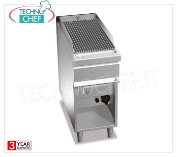 TECHNOCHEF - GAS VAPOR-WATER GRILL, 1 module on DAY COMPARTMENT, Mod.G9WG40M GRILL VAPOR-GAS WATER, BERTOS, MAXIMA 900 Line, WATER GRILL Series, 1 module on DAY COMPARTMENT with COOKING AREA of 350x630 mm, heat output Kw.12.00, Weight 60 kg, dim.mm.400x900x900h