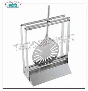 Pizza shovels, blade holders, accessories Pallet rest in stainless steel, size up to 26, dim. mm 300x160x390h