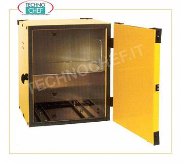 Pizza box, isothermal Pizza box with shelf for two thermal bags, capacity 10 cartons of 33 cm, dim. mm 470x470x520h