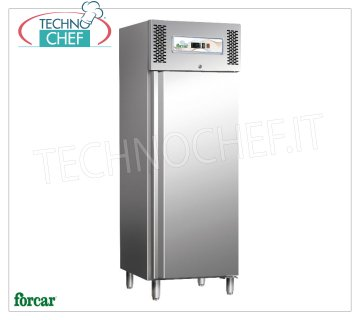 Forcar - 1 Door Fridge Cabinet, lt.650, Ventilated, Temp. -2 ° / + 8 ° C, Class C, mod.G-GN650TN 1 Door Refrigerated Cabinet, Professional, capacity 650 lt, temp. -2 ° + 8 ° C, Ventilated, ECOLOGICAL in Class C, Gas R290, Gastronorm 2/1, V.230 / 1, Kw.0,315, Weight 134 Kg , dim.mm.740x830x2010h
