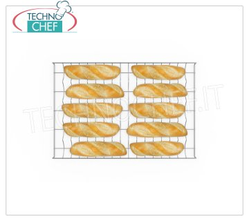 5 CHANNEL SHAPED Chrome Grille mm 600x400 5 CHANNEL SHAPED Chrome Grille mm 600x400, for baguettes or pre-cooked loaves.