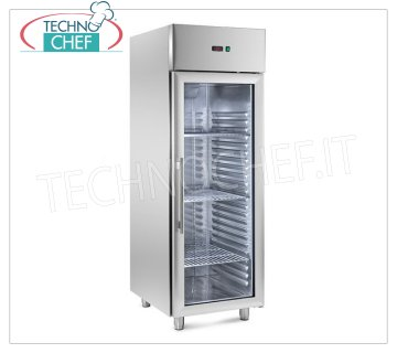 Freezer-Freezer Cabinet 1 Glass Door, Temp. -10 ° / -20 °, ENERGY SAVING - PRINTED guides Refrigerator / Freezer cabinet 1 glass door, capacity 700 lt, ENERGY SAVING-HIGH THICKNESS, temp. -10 ° / -20 ° C, with PRINTED GUIDES, ventilated, ECOLOGICAL Gas R290, Gastro-norm 2/1, with light and key, V 230/1, Kw.0.45, dim.mm.690x830x2050h