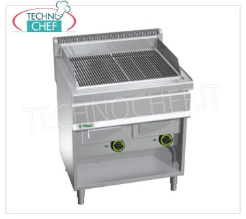 Fimar- GAS WATER VAPOR-COMBI GRID, DOUBLE module on OPEN COMPARTMENT, Mod.GW80 GAS VAPOR-WATER GRILL, DOUBLE module on OPEN COMPARTMENT with COOKING AREA of mm 708x500, thermal power Kw. 18.00, Weight 85 Kg, dim.mm.700x800x1040h