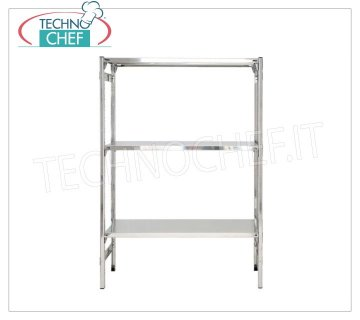 Stainless steel modular shelf unit, Smooth Shelves, Hook Assembly - H 150