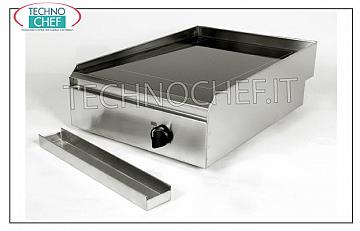 TECHNOCHEF - Electric Hob / Fry Top with Smooth Glass Ceramic Plate, Mod.PFT.A.01 HOB / FRY TOP in SMOOTH GLASS, ELECTRIC table top, 1 COOKING AREA of 2.5 kw, ADJUSTABLE TEMPERATURE from 50 ° to 400 ° C, V 230/1, Kw 2.5, dimensions 400x600x170h