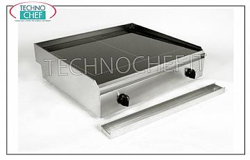 TECHNOCHEF - Electric Hob / Fry Top with Smooth Glass Ceramic Plate, Mod.PFT.A.02 HOB / FRY TOP in SMOOTH GLASS, ELECTRIC table top, 2 INDEPENDENT COOKING AREAS of 2.5 + 2.5 kW, ADJUSTABLE TEMPERATURE from 50 ° to 400 ° C, V 230/1, Kw 2.5 + 2, 5, dimensions 650x600x170h mm