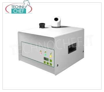 Sanitizing Machines - Hydrogen Peroxide - Atomizer NEBULIZER for Sanitizing Environments with Hydrogen Peroxide for environments up to 160 m / square (max 3 m high), Tanks 1.5 liters, V. 230/1, Kw.0.85 - Weight 10.5 Kg, Dim.mm 302x360x286h