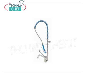 Single-hole mixer tap with spout and suspended shower SINGLE-HOLE BENCH MIXER TAP, single lever, with clinical LEVER, SWIVELING BARREL, and diverter for SUSPENDED SHOWER