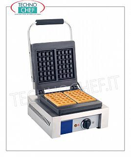 WAFFLE MACHINE with CAST IRON COOKING PLATE Waffle machine with cast iron cooking plate, thermostatic temperature control, V 230/1, Kw 1.5, weight 28 Kg, dim.mm.480x320x226h