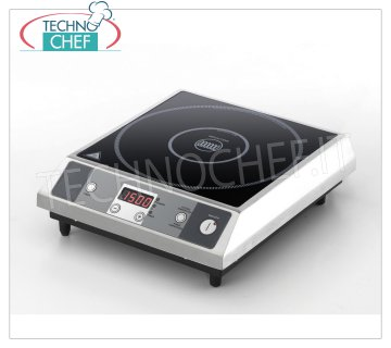 TECHNOCHEF - TABLE INDUCTION PLATE, SURFACE Ø 280 mm, Kw.2,7, Mod. ICT27 INDUCTION table top, USEFUL SURFACE: DIAMETER 280 MM, POWER 2.7 Kw, V. 230/1, external dimensions mm. 323x370x105h