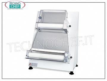 Rolls with 2 pairs of parallel rollers of 400 mm, mod. 2300 / B40P STENDIPIZZA-PIADINA in STEEL WHITE color, oven painted, with 2 PAIRS OF ADJUSTABLE PARALLEL ROLLERS for MAXIMUM PRECISION, pizza / piadina diameter max. 400 mm, for loaves of 50/1000 grams, V 230/1, kw 0.50, dimensions mm 520x520x690h