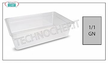 Gastronorm GN 1/1 containers in polypropylene Gastro-norm 1/1 container in polypropylene, dim.mm.530 x 325 x 65 h