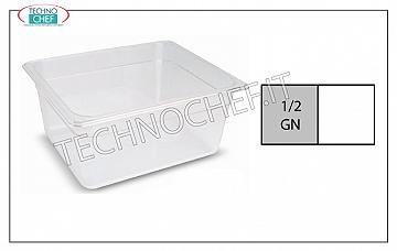 Gastronorm 1/2 containers in polypropylene Gastro-norm 1/2 container in polypropylene, dim.mm.325 x 265 x 65 h