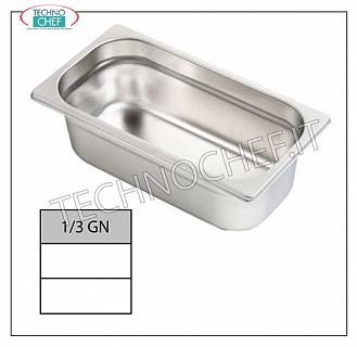 Gastronorm GN 1/3 containers in stainless steel Gastro-norm 1/3 tray, 18/10 stainless steel, dim. 325 x 175 x 20 h